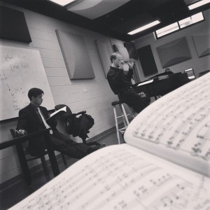 2.13.2013 - Put up several pictures yesterday and realized that none were the #photooftheday so here's the one I meant to put up yesterday! Rehearsal Beethoven's Ninth with Maestro Fellenbaum!