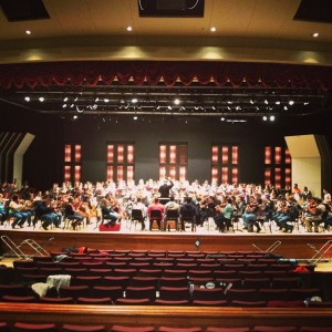 2.18.2013 - First rehearsal of Beethoven's Ninth with all the performing forces!