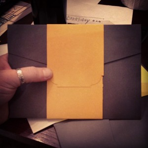 2.2.2013 - Worked on addressing our envelopes today! Gotta get these suckers out soon! #49days #photooftheday