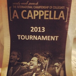 2.9.2013 - An unbelievable day and experience. I am so blessed. #icca #secondplace #acappella