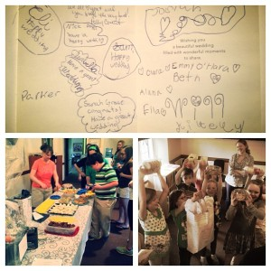 3.17.2013 - Surprise wedding showers from Church Street Youth, Children's, and Primary Choirs! We feel so loved! @gutheb
