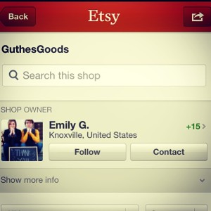 3.28.2013 - Opened an Etsy shop today! Not a lot is listed quite yet. But spread the word!