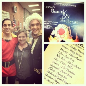 4.13.2013 - Tullahoma High School's presentation of Beauty and the Beast! Elliot played Lumiere and Ricky was Gaston! #mybrotheriscoolerthanyours #mybrotherisalsocoolerthanme — with Ricky Nelson.