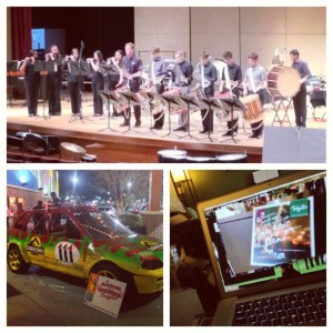 4.6.2013 - Boone's percussion ensemble concert, puppy zone, WedIt videos and Jurassic Park 3D!