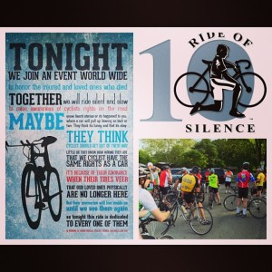 5.15.2013 - Ride of Silence for all the fallen riders and their families.
