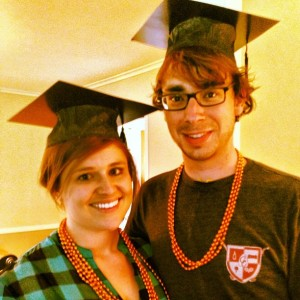 5.18.2013 - Boone and I in our Cap and Beads! Celebrating graduation!